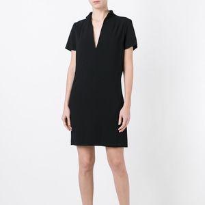 Alice + Olivia employed black v neck sheath dress